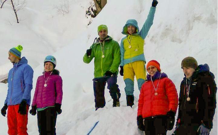 Ледено катерене държавно първенство 2017 боянски водопад.