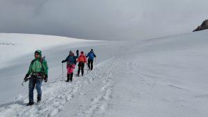 движение по ледник в Алпите